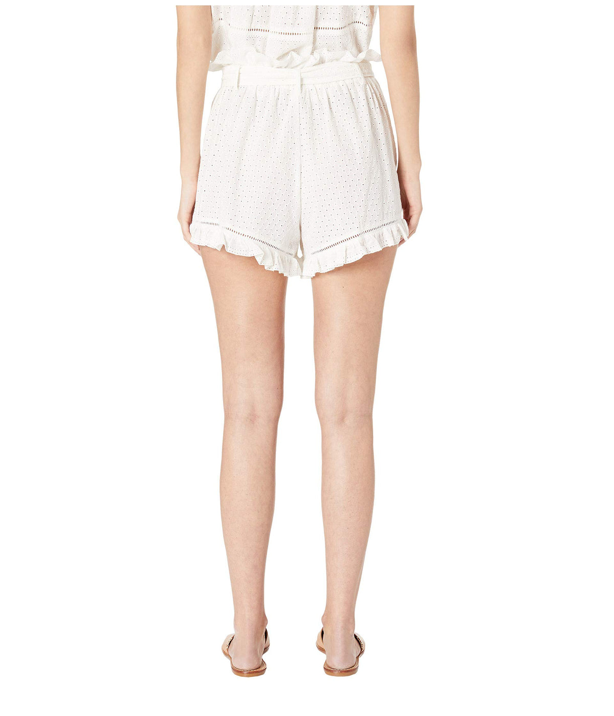 Embroidered Ruffle Shorts