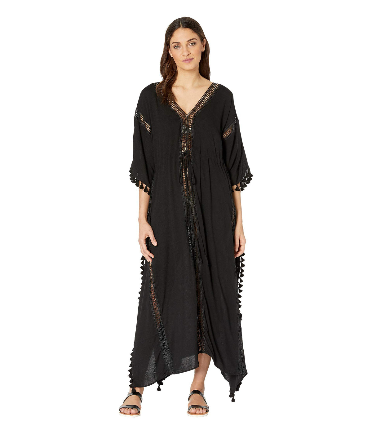 Farrah Tassel and Lace Cover-Up