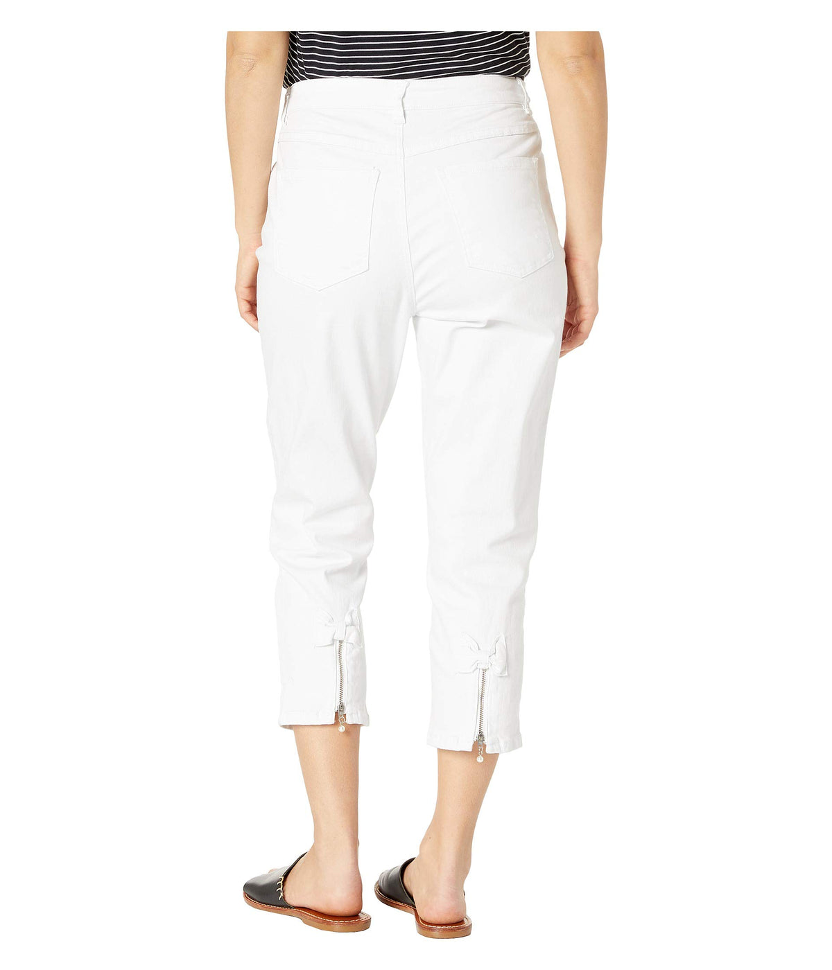 Petite Statement White Denim Suzanne Crop in White