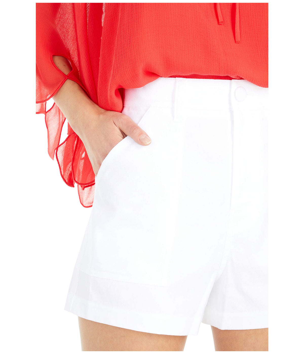 Patch Pocket Shorts in Optic White