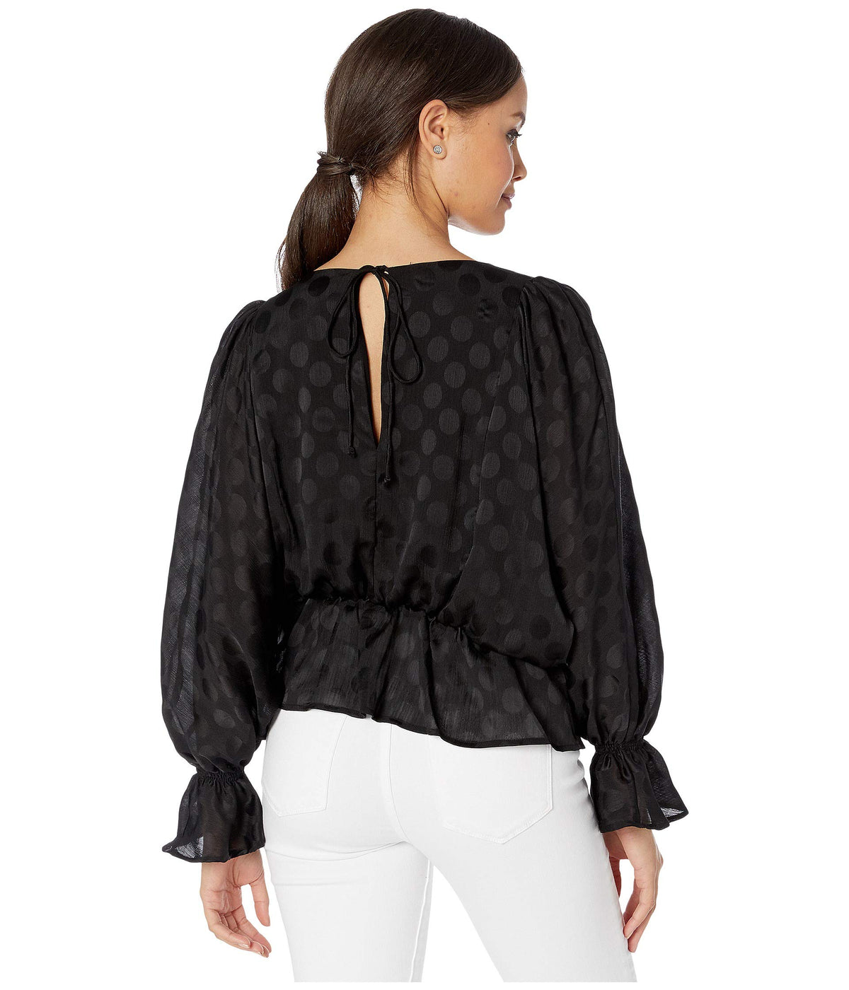 Dot A Dream Jacquard Dot Chiffon Blouse