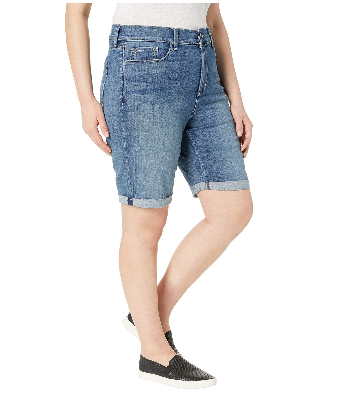 Plus Size Briella Roll Cuff Shorts in Heyburn