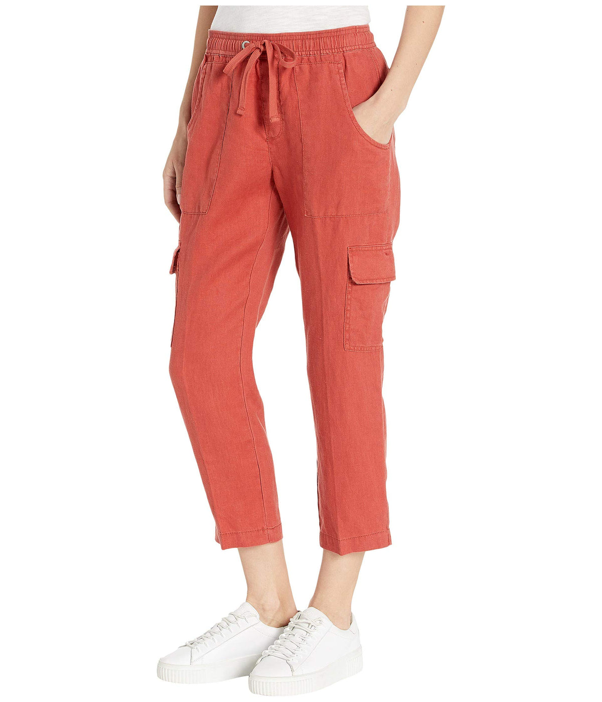 Discover Pull-On Linen Cargo Pants