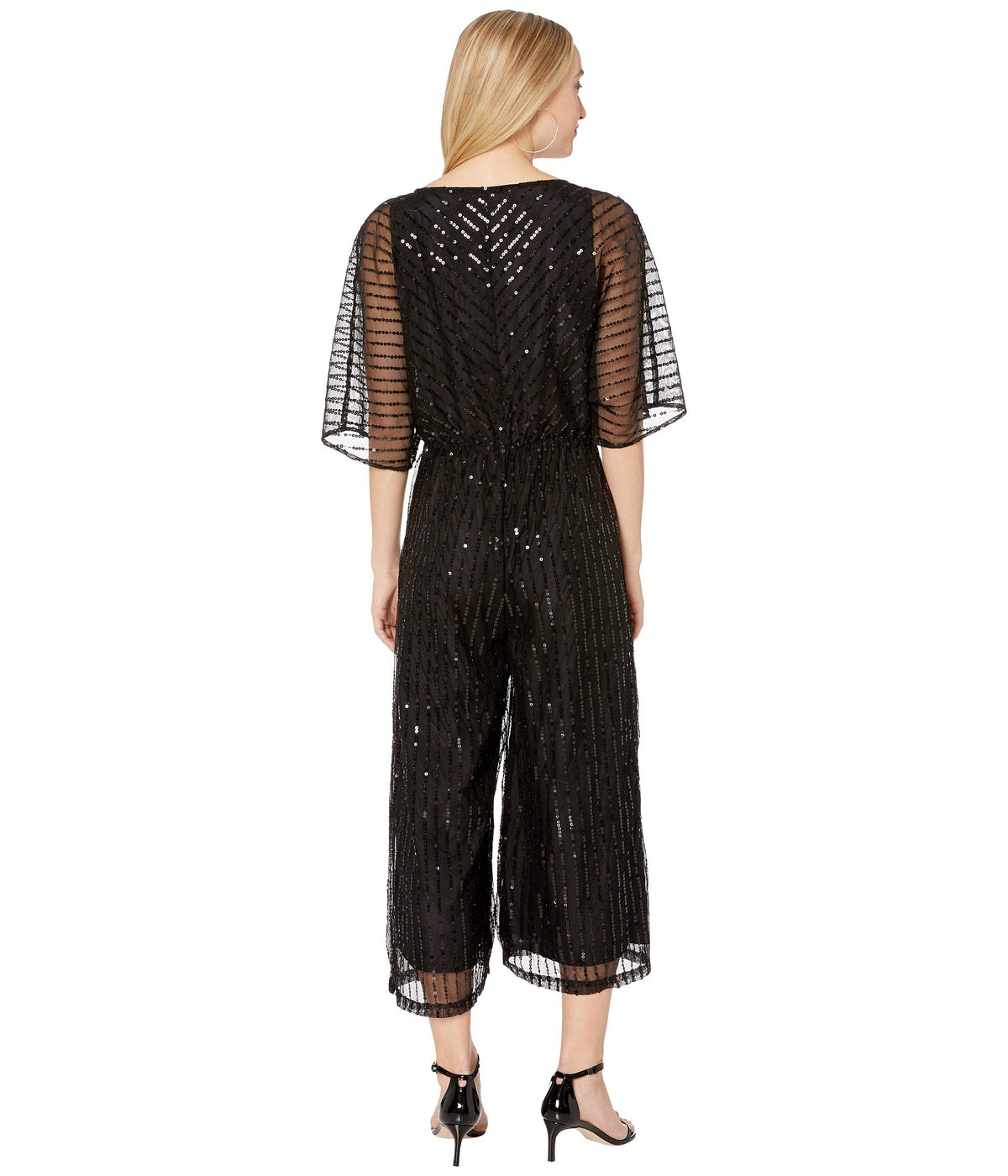 She's Sparkling Sequin Beaded Jumpsuit