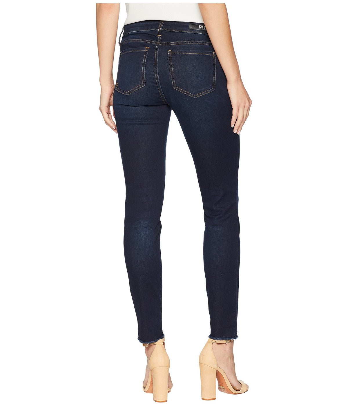 Connie Ankle Skinny w/ Step Fray Hem in Observant