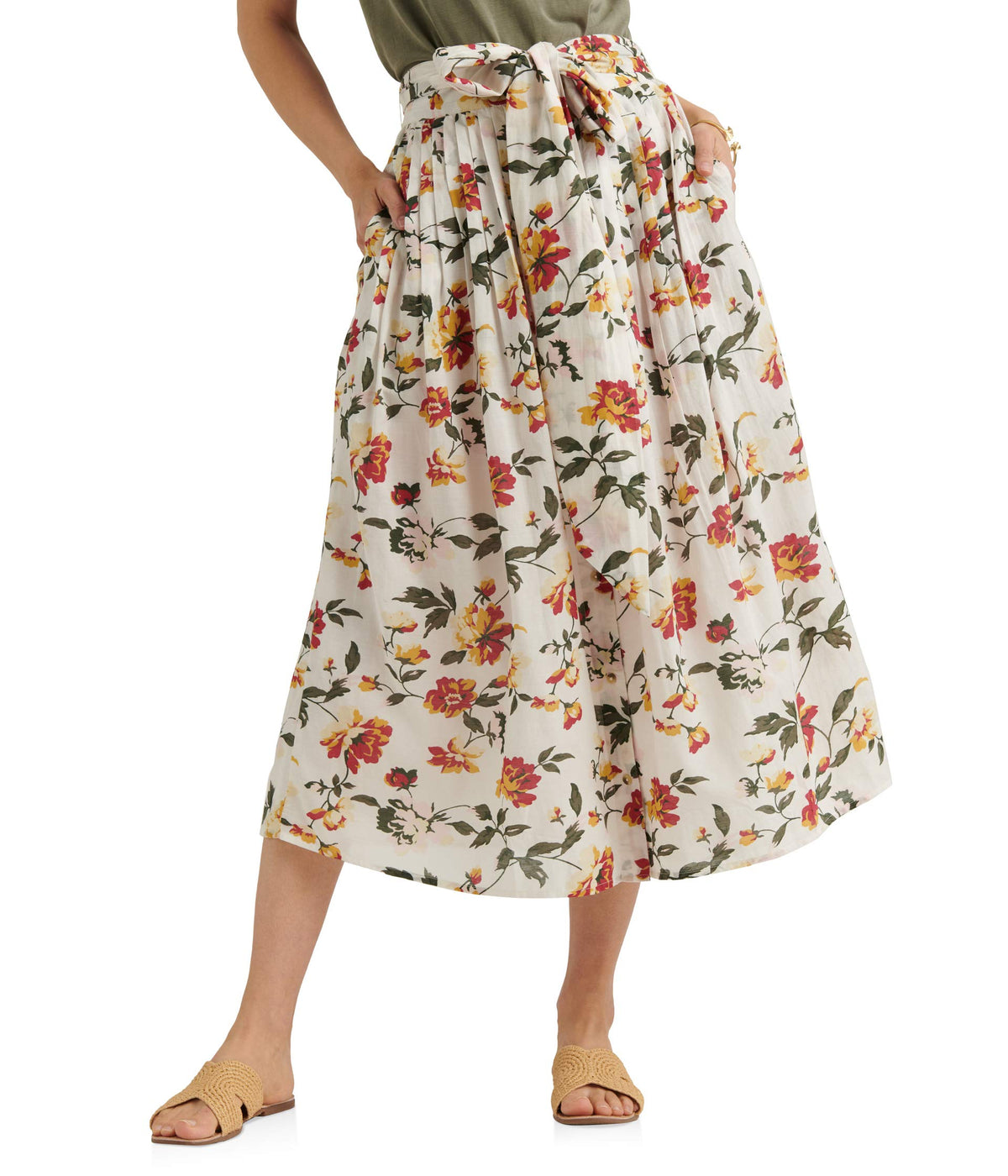 Long Floral Printed Sadie Skirt