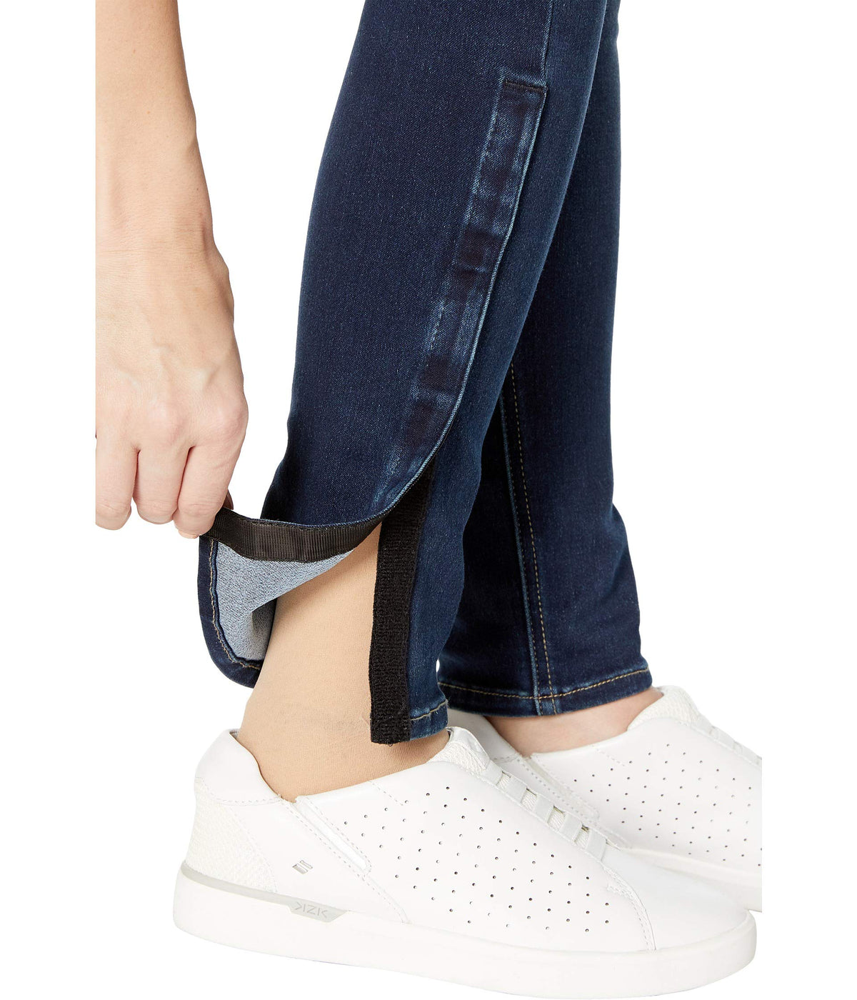 Adaptive Tummyless Skinny Side Zip Jeans in Deelight