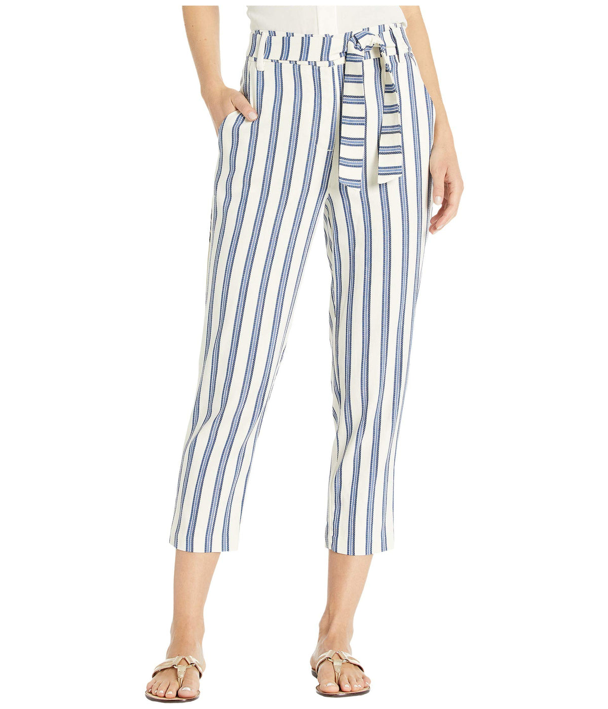 High-Waisted Cuffed Pants TRH2280078