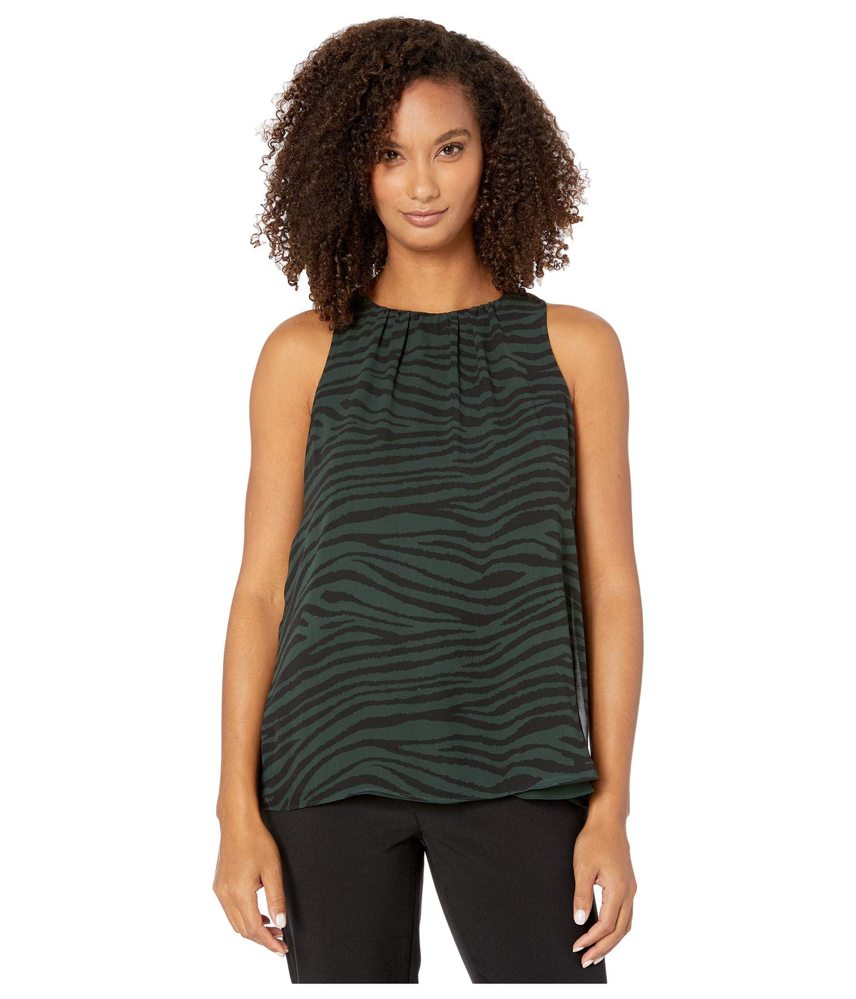 Sleeveless Tranquil Animal Blouse