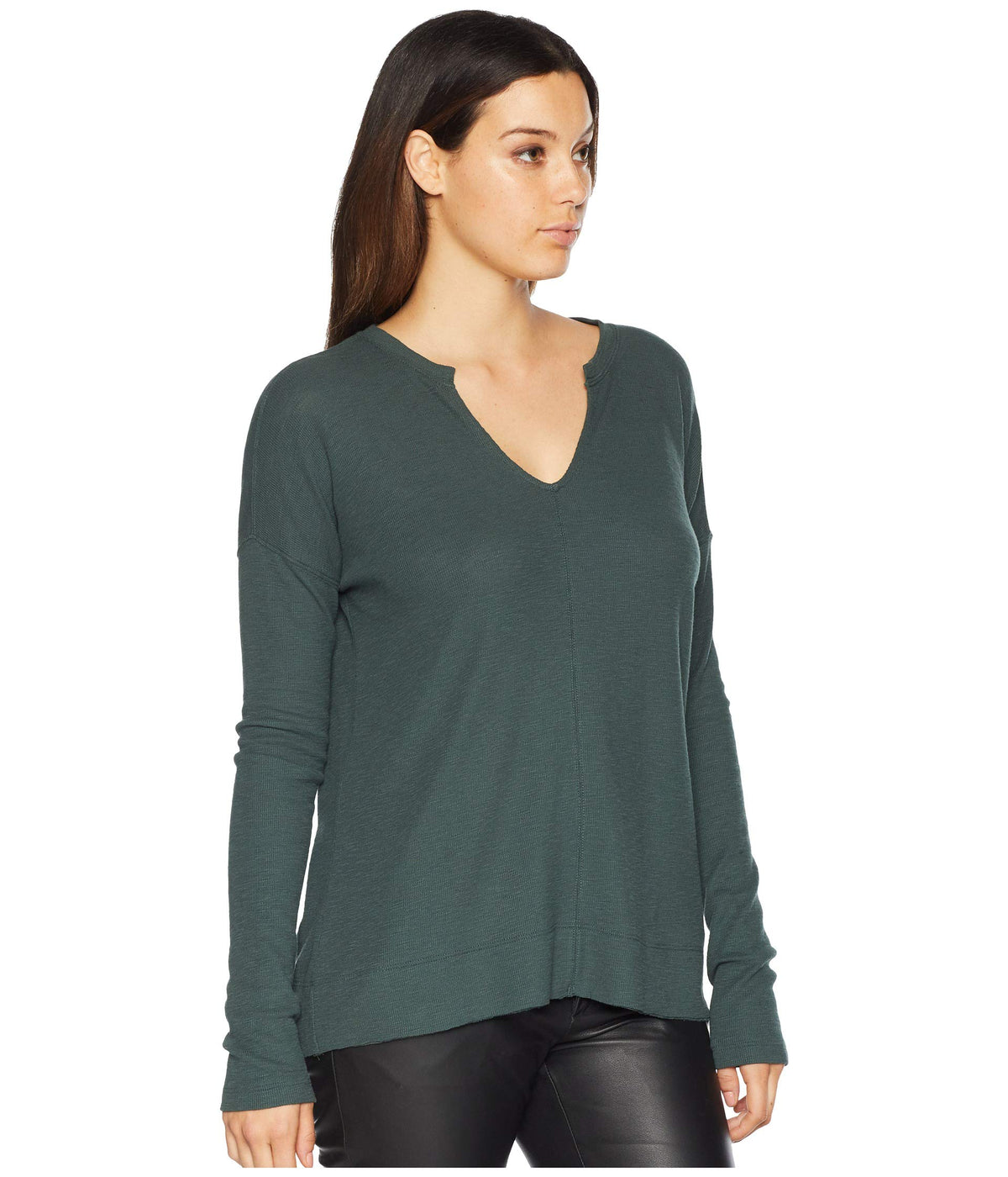 Long Sleeve Split-Neck
