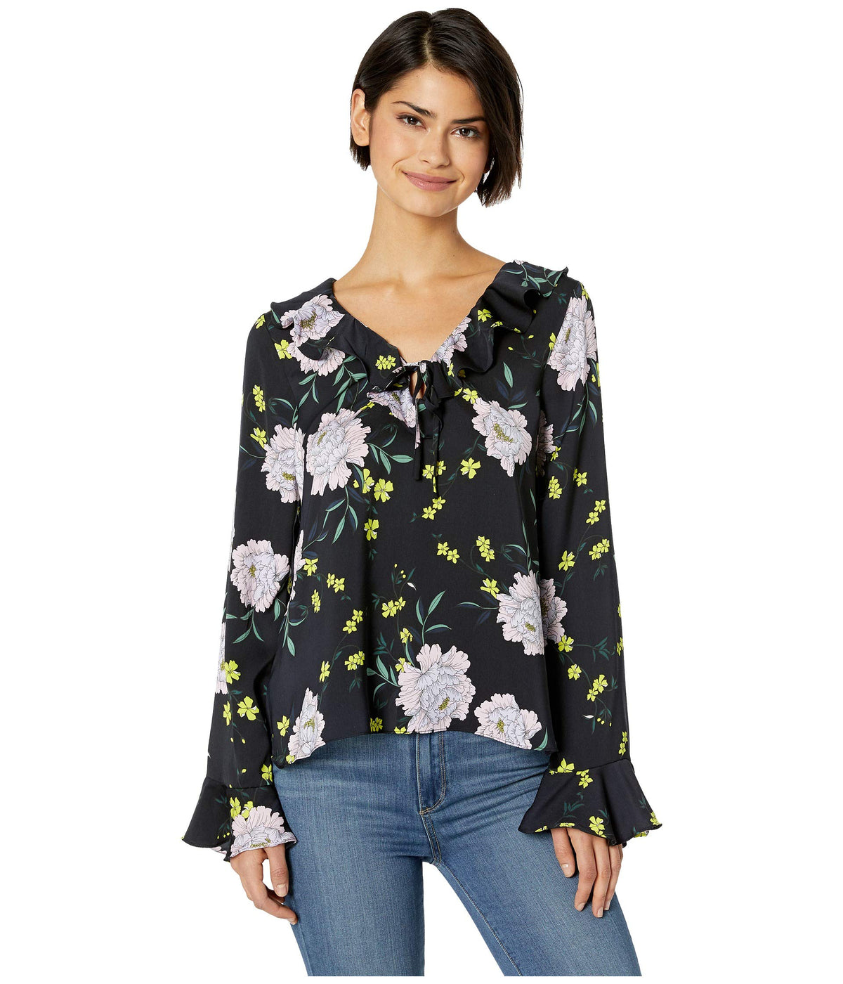 Amethyst Printed V-Neck Top