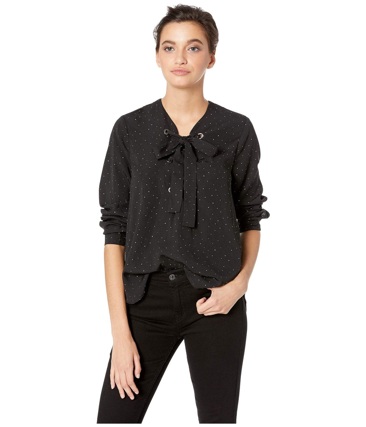 Laila Lace-Up Blouse