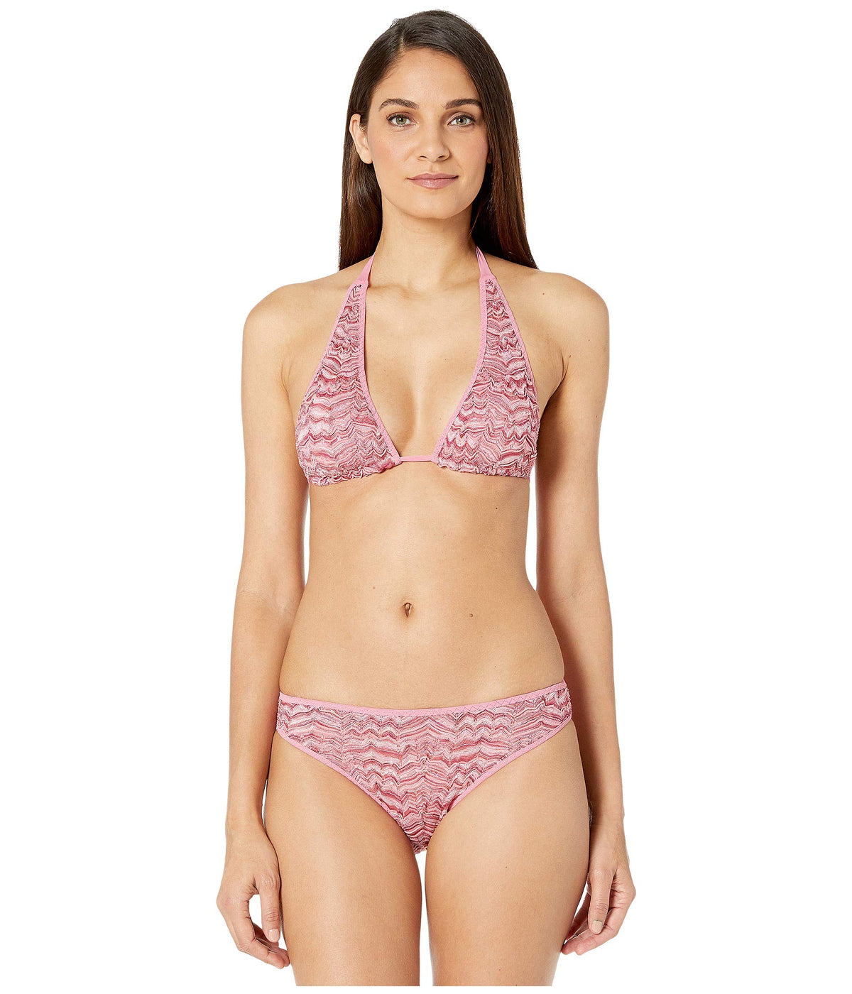 Embossed Lace Two-Piece Swimsuit