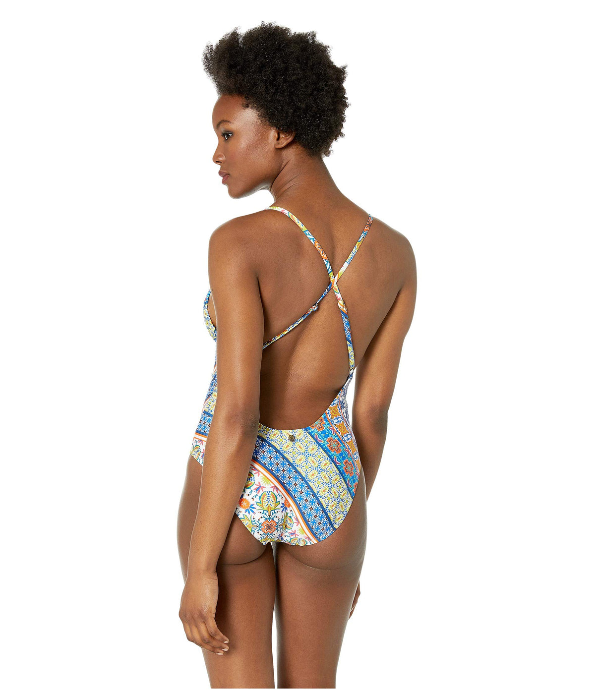 Scarf Patchwork Goddess One-Piece Swimsuit