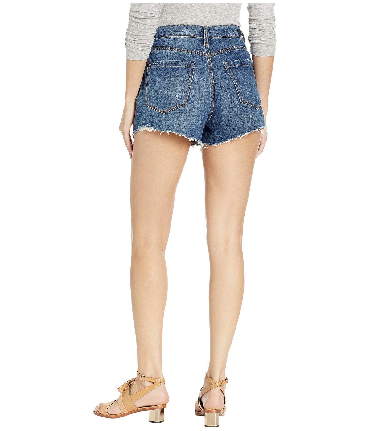 The Barrow High-Rise Distressed Shorts in After Shock