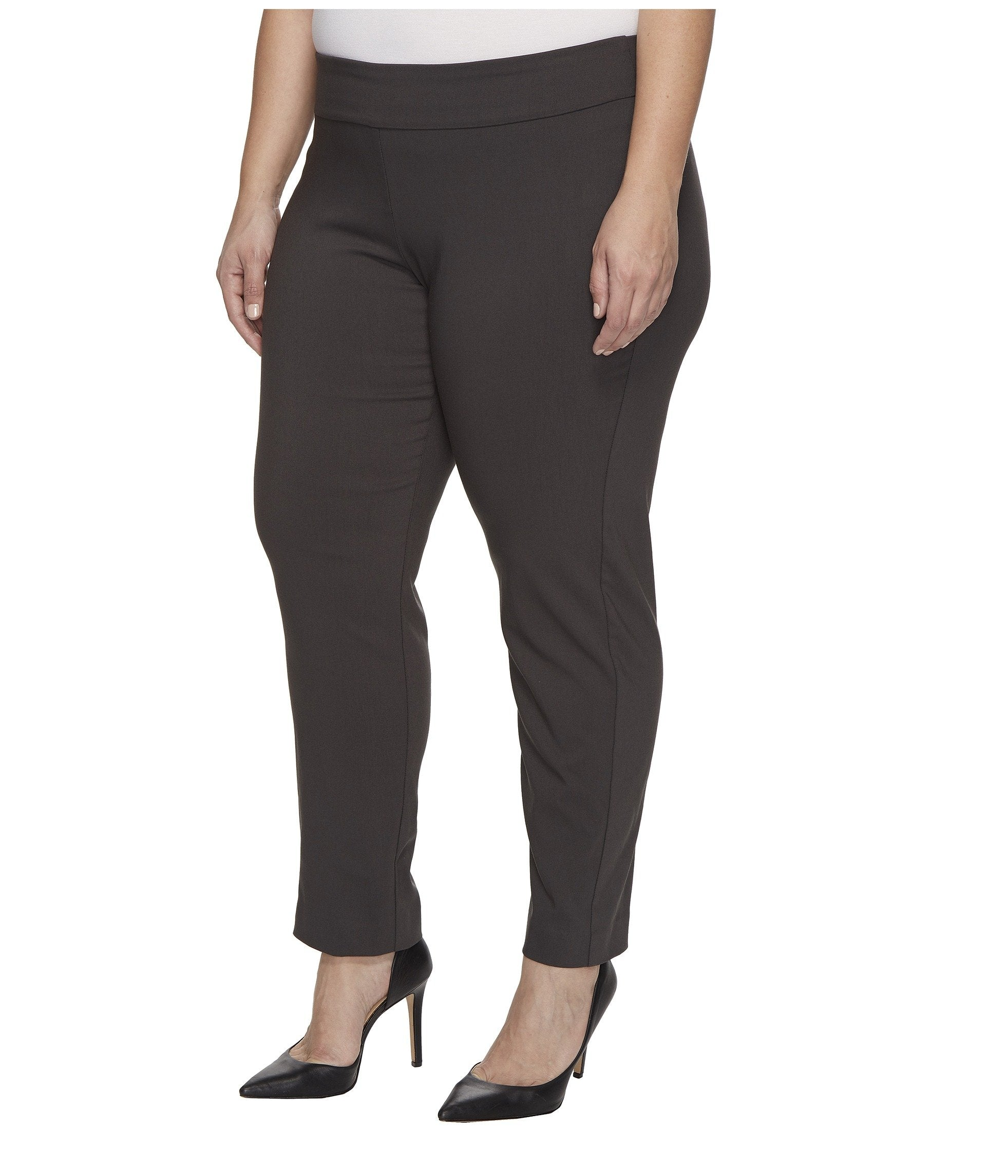 Plus Size Pull-On Ankle Pants