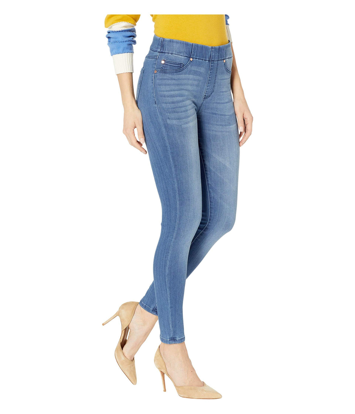 Chloe Pull-On Ankle Skinny in Baxter