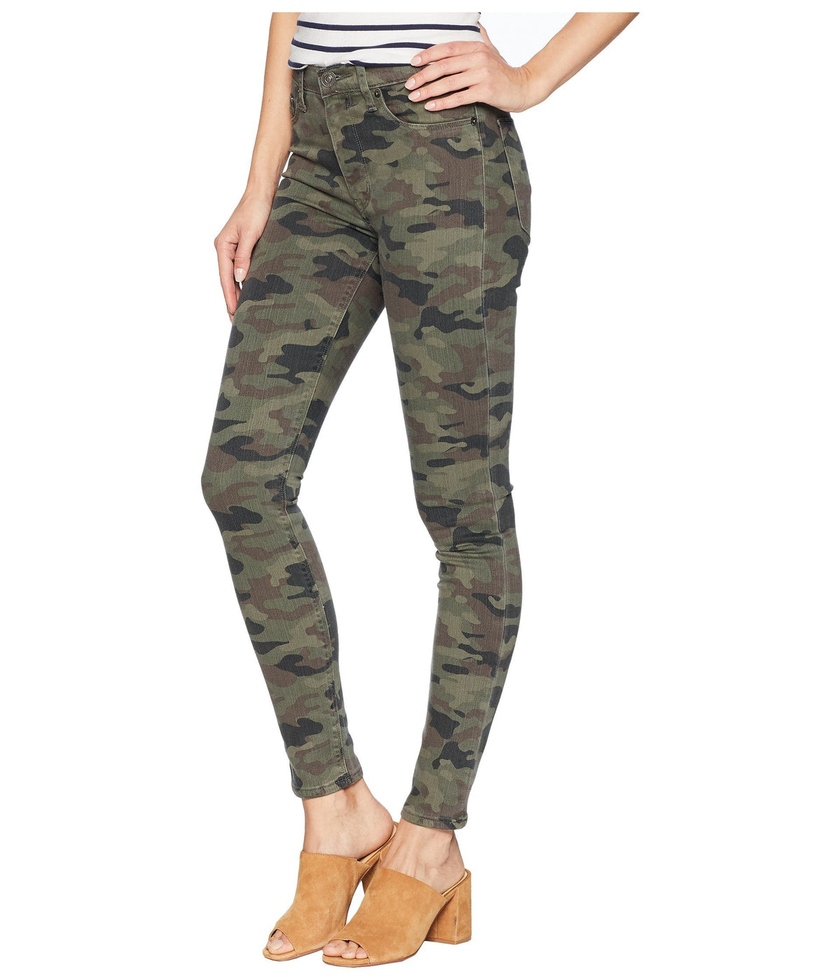 Barbara High-Waist Ankle Skinny in Deployed Camo