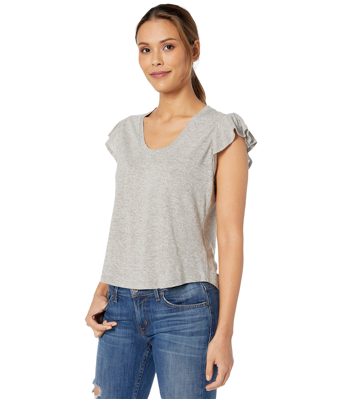 Sleeveless Washed Texture Jersey
