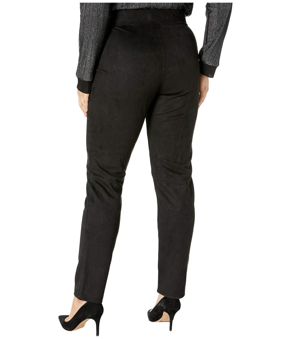 Plus Size Microsuede Straight Leg Leggings