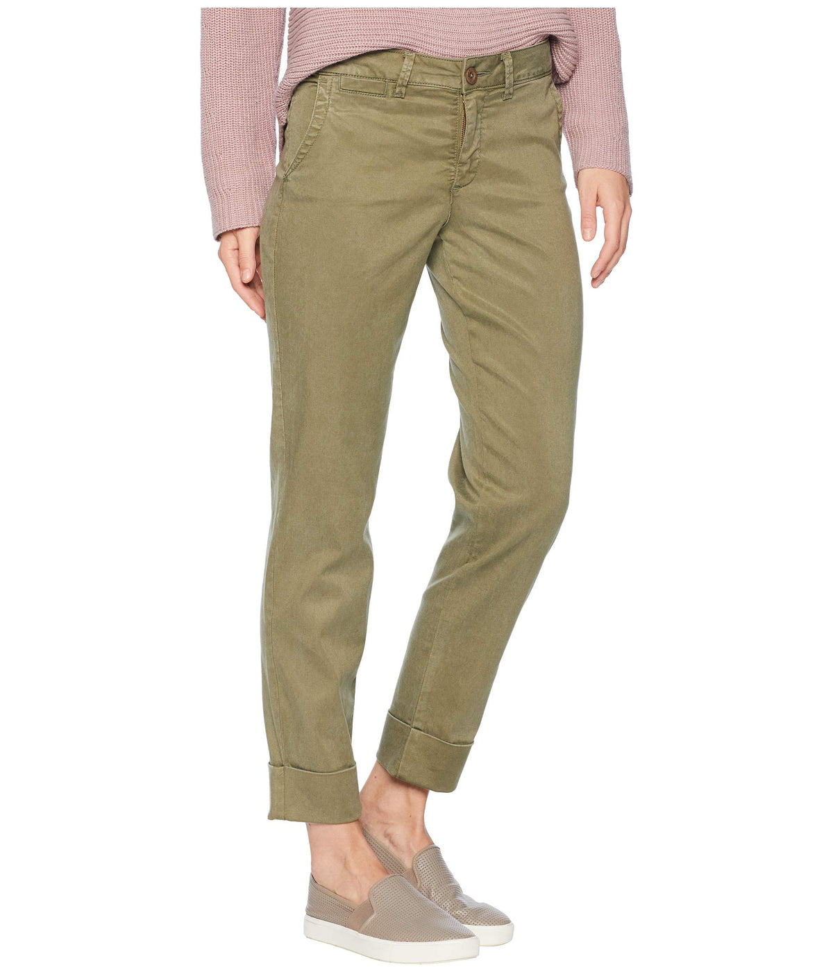 Skinny Chino Ankle w/ Clean Cuff in Olive