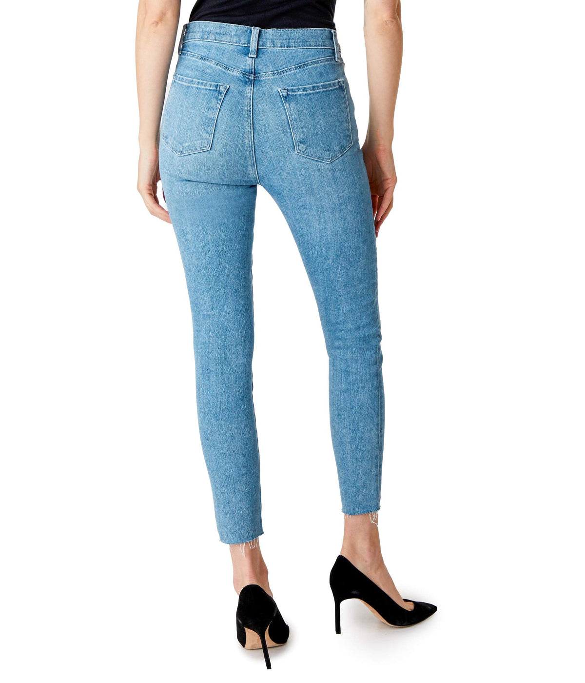 Lillie High-Rise Crop Skinny in Cloudy