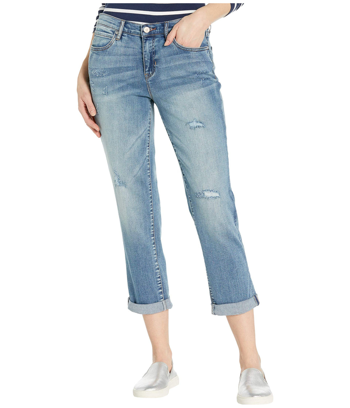 Nolita Boyfriend Jeans in Medium Blue
