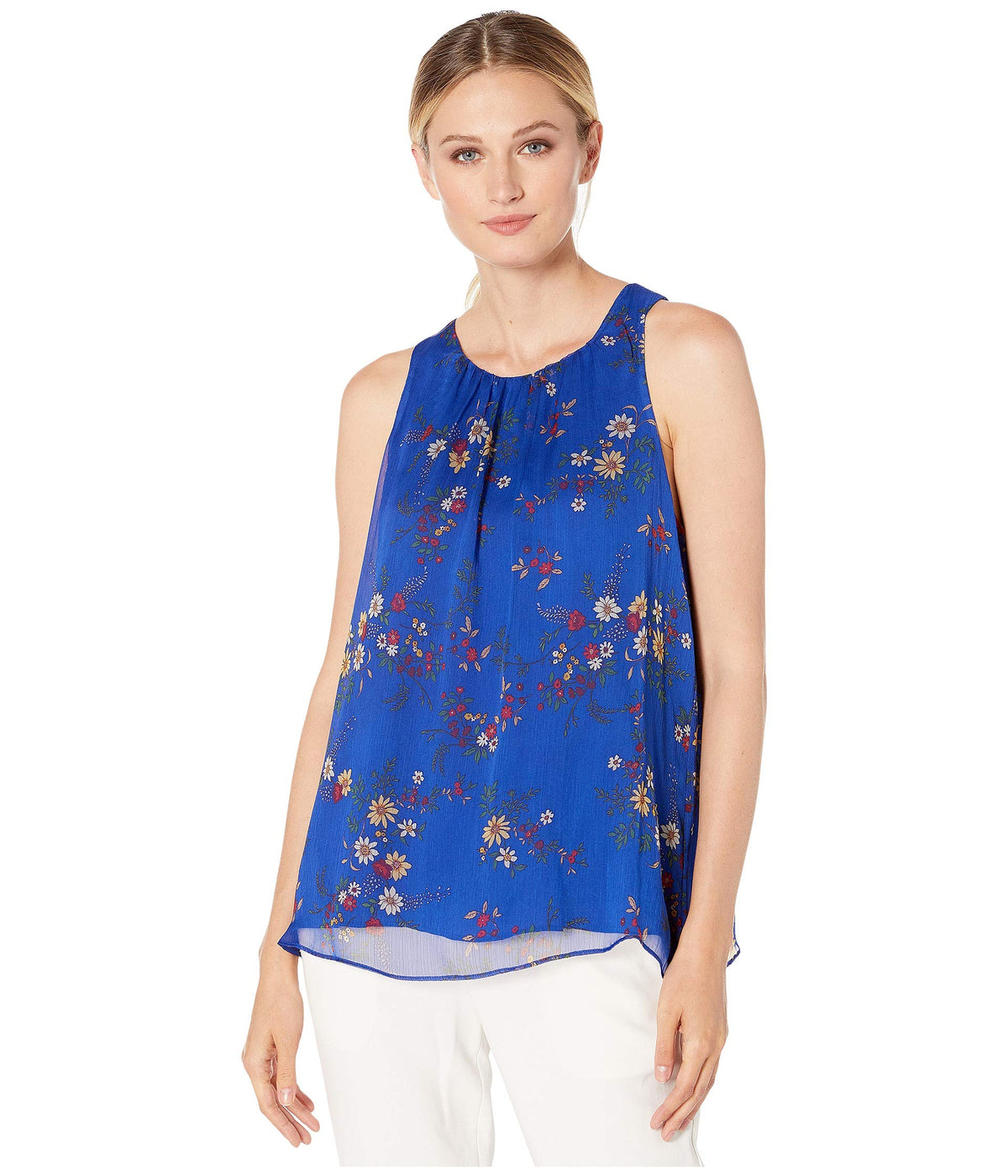 Sleeveless Country Bouquet Blouse
