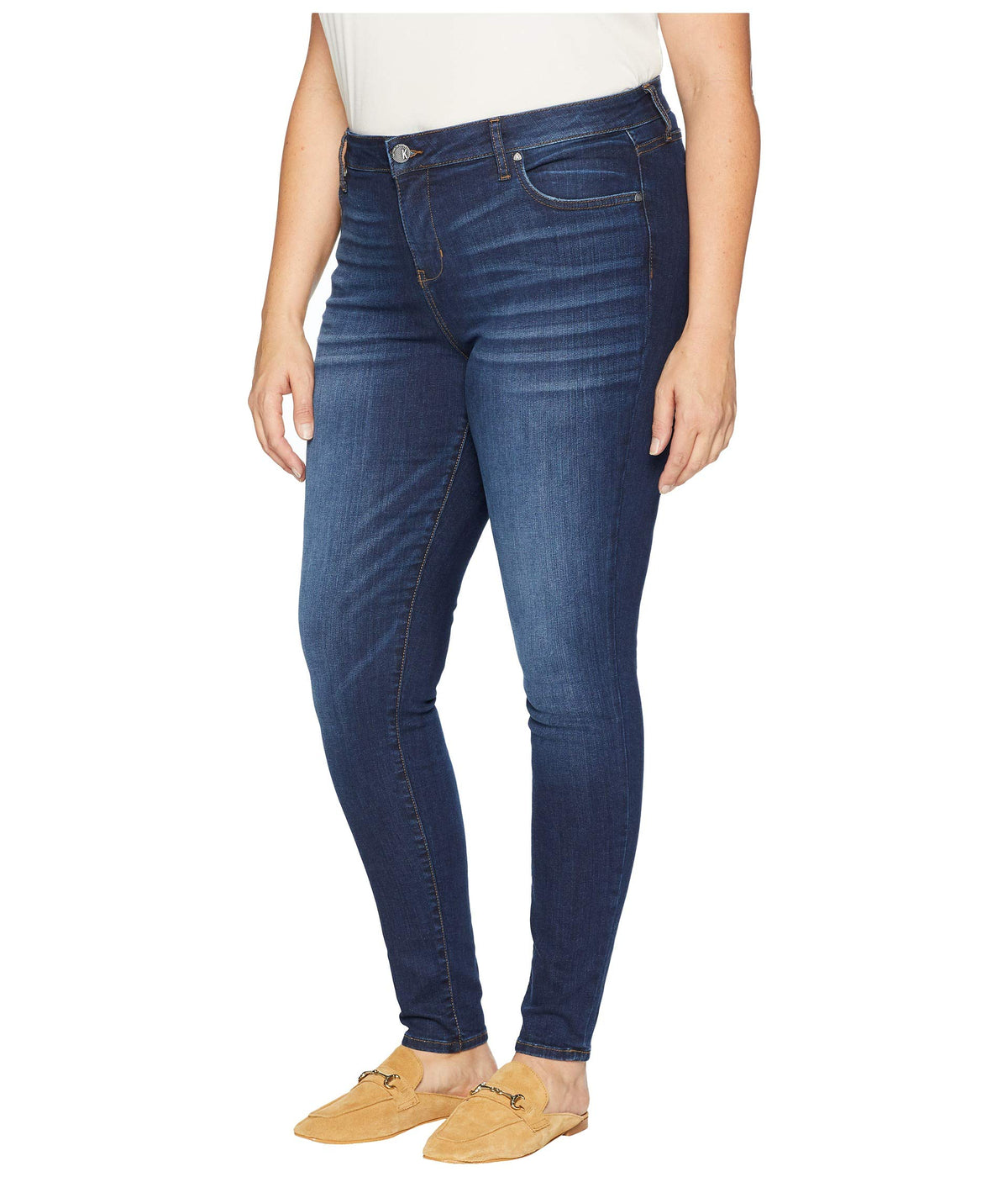 Plus Size Mia High-Waist Skinny Jeans in Goodly
