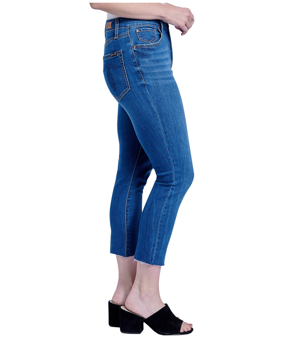 "25"" Breezy Crop Jeans w/ Raw Hem in Euphoria"
