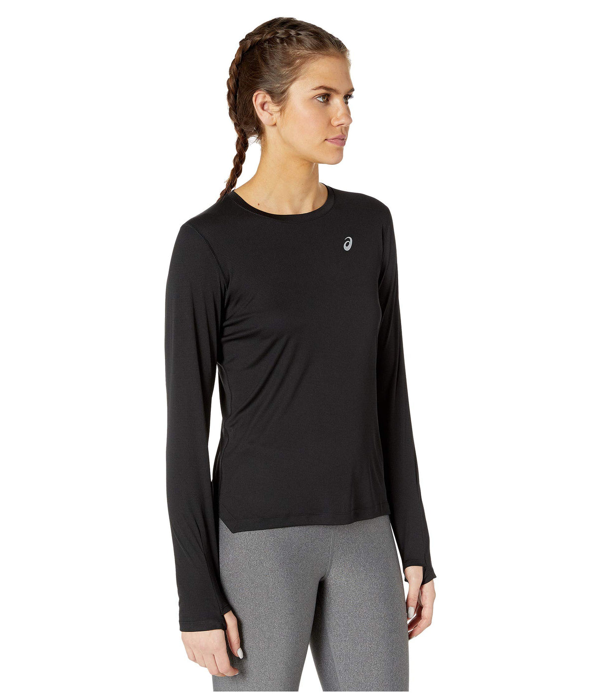 Run Silver Long Sleeve Top