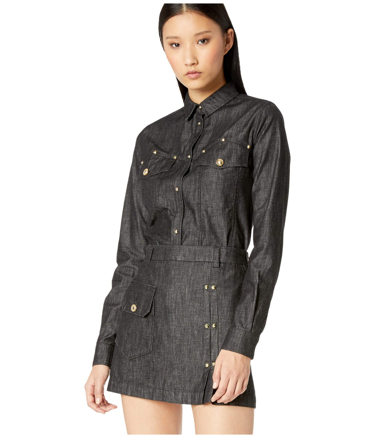Denim Button-Up Shirt