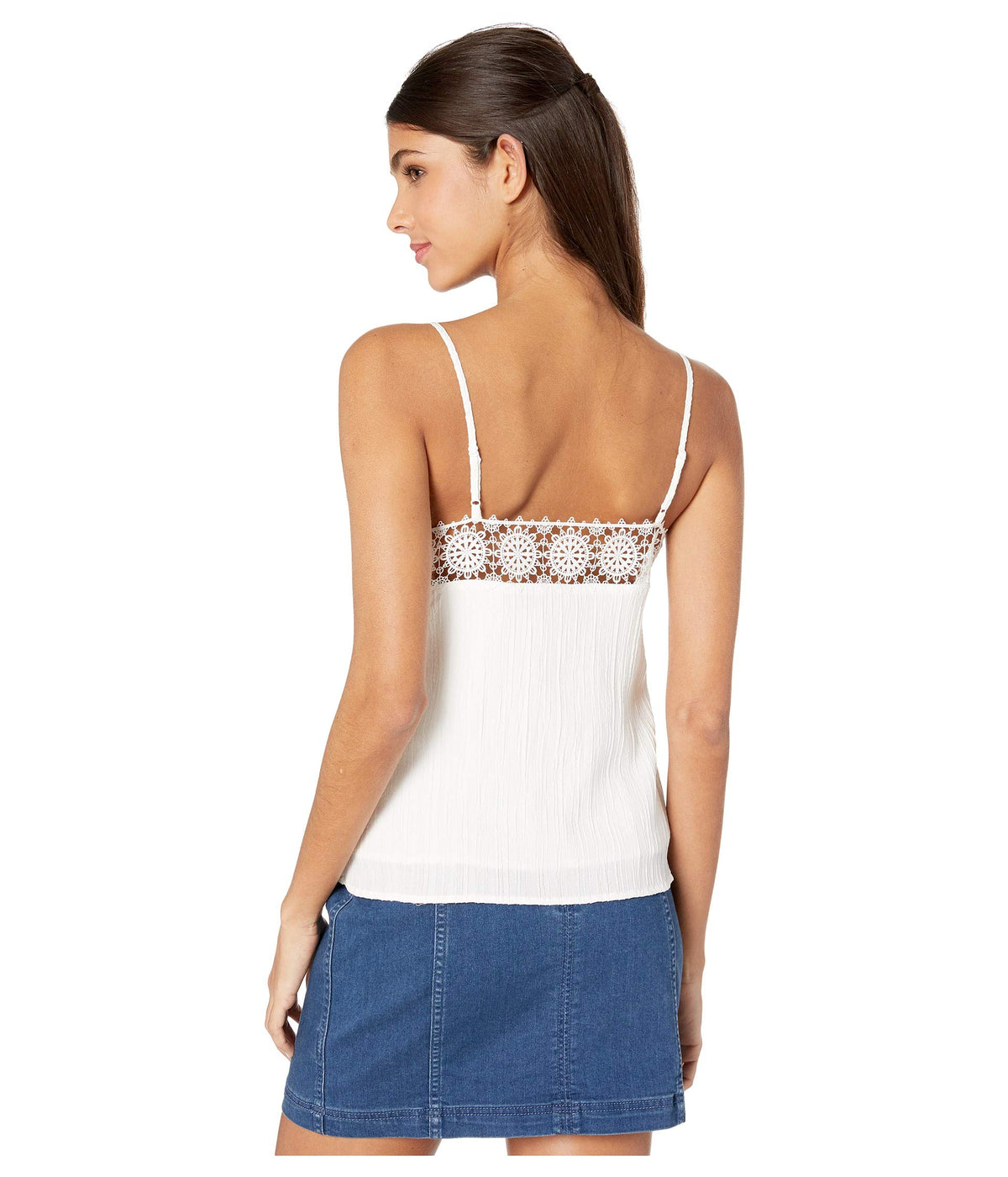 Madeline Textured Rayon Button Front Cami
