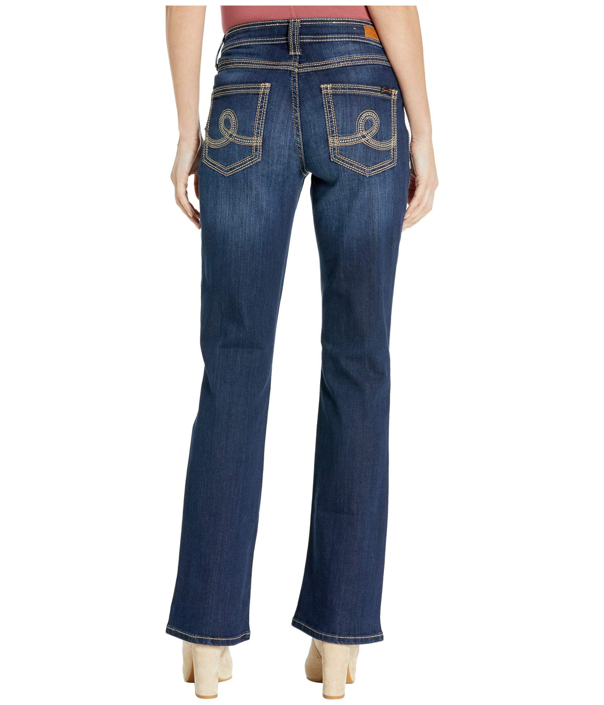 Embellished Bootcut Jeans in Challenger