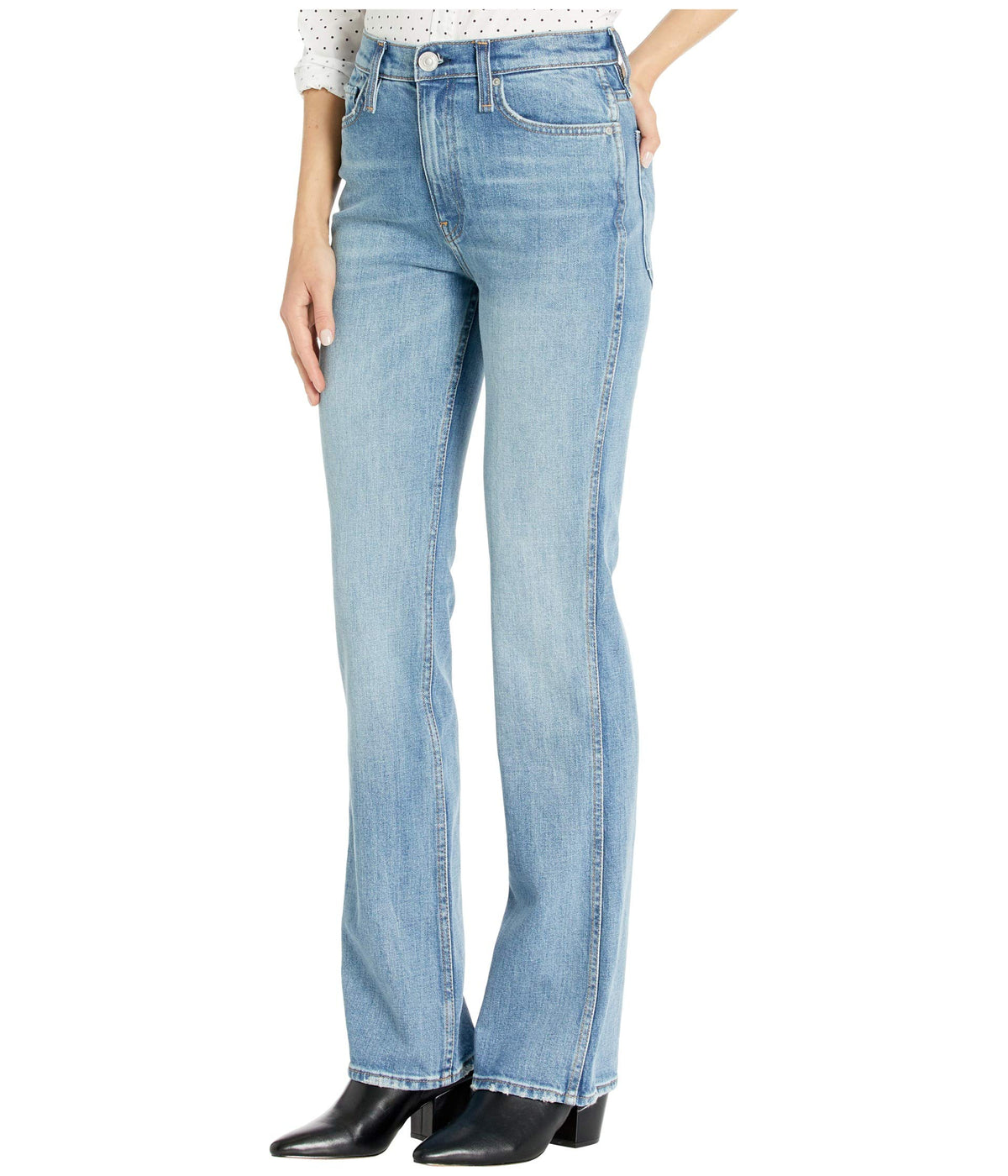 Abbey High-Rise Bootcut Jeans in Never Enough