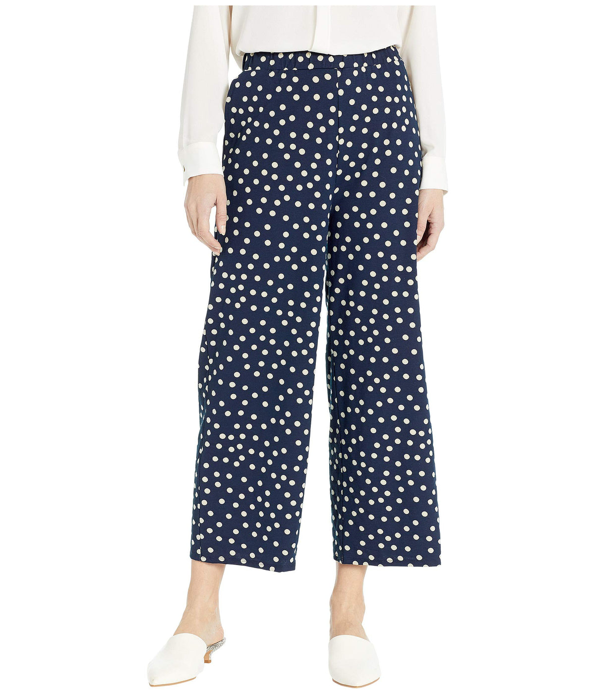 Spring Dot Print Pull-On Pants