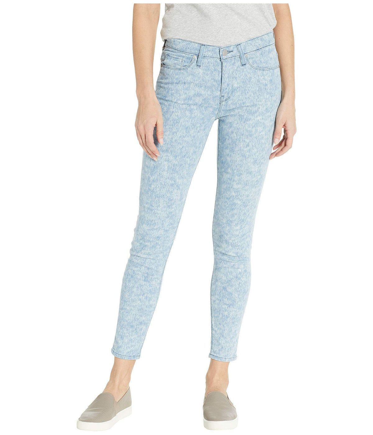 Nico Mid-Rise Ankle Skinny Jeans in Vapor