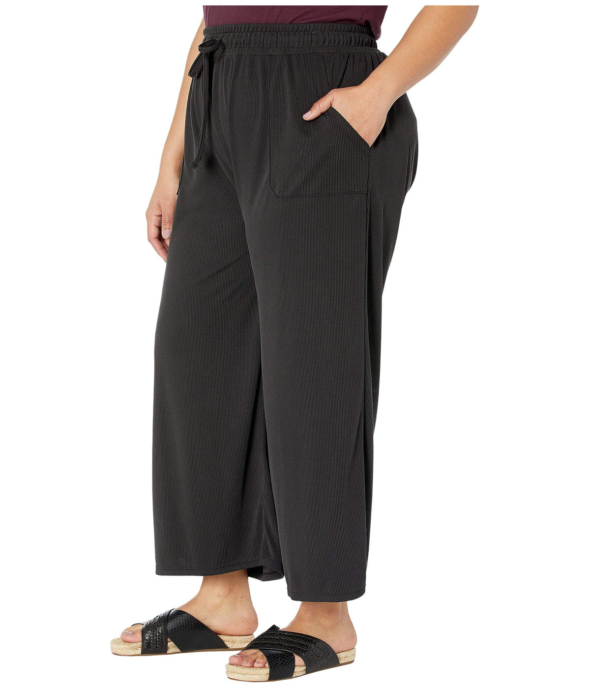 Plus Size Jetsetter Capris in Stretchy Modal Rib