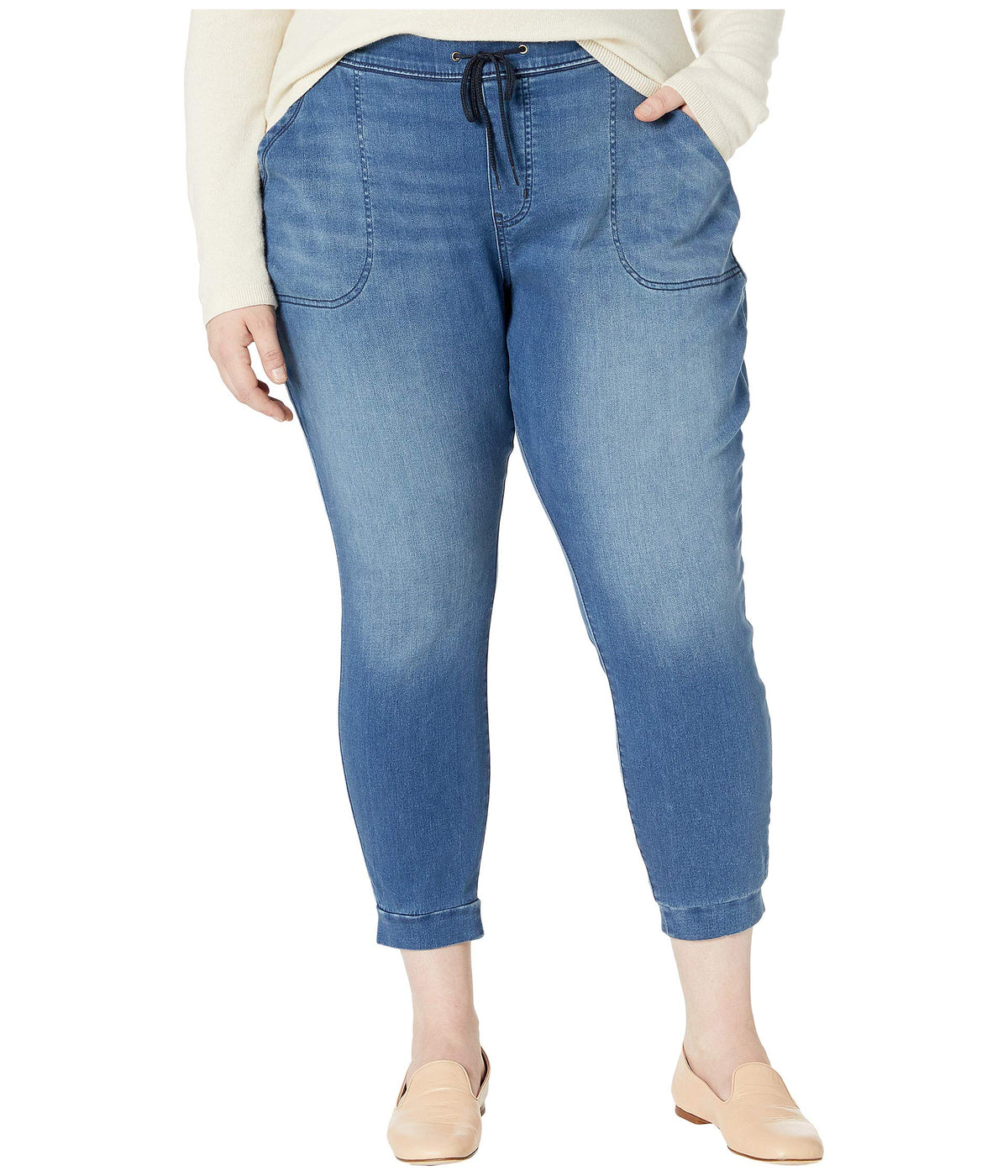 Plus Size Mid-Rise Skinny Pull-On Joggers