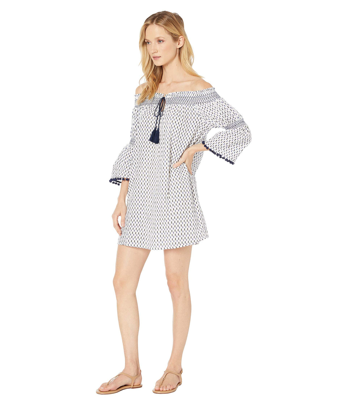 Canyon Sky Off-the-Shoulder Tunic with Fixed Ties Cover-Up