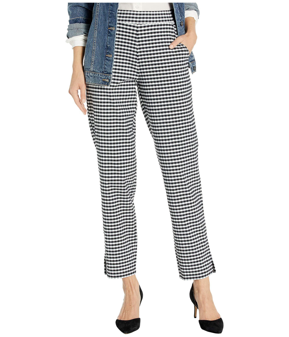 Small Plaid Temp Tech Trouser Leggings
