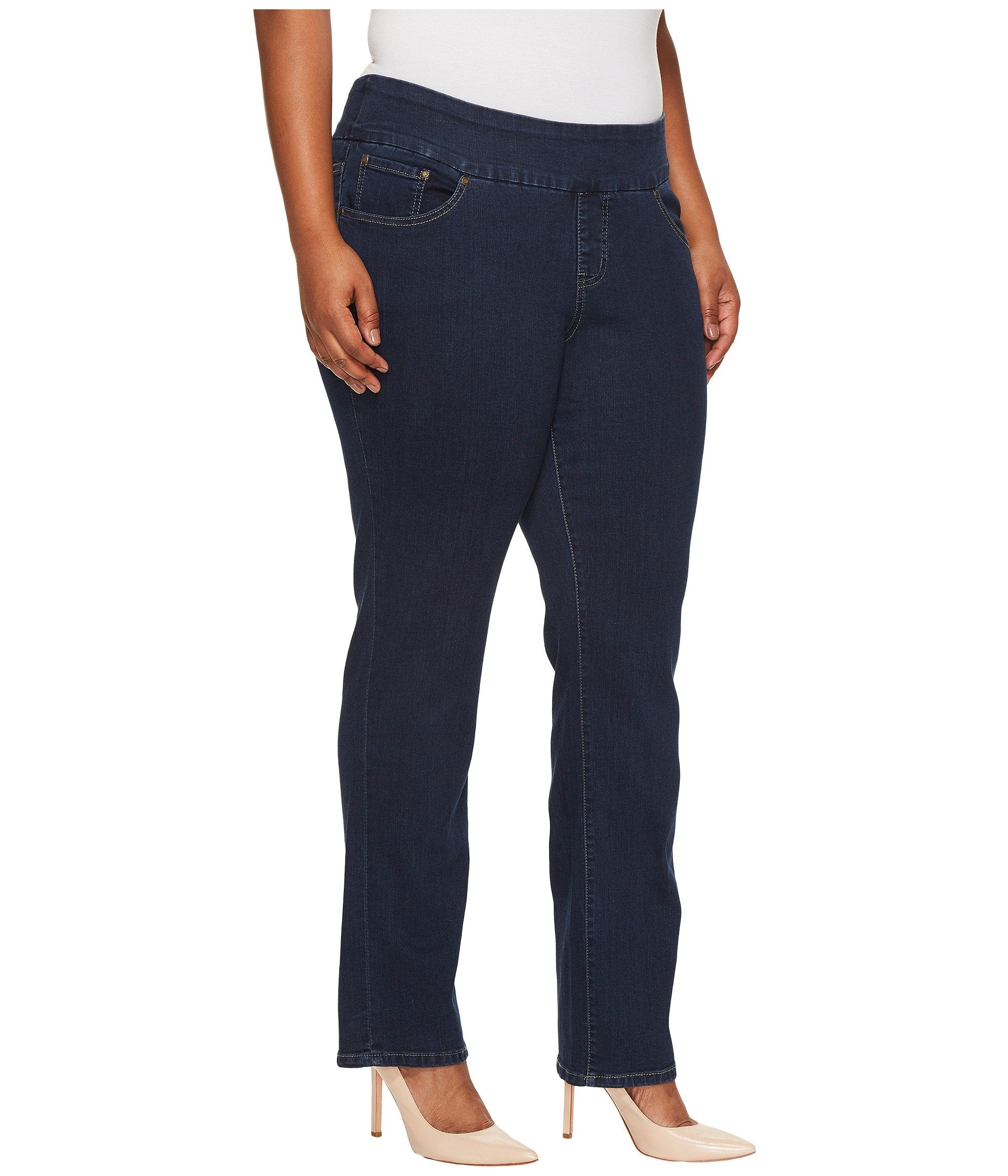 Plus Size Peri Pull-On Straight Butter Denim in Ink