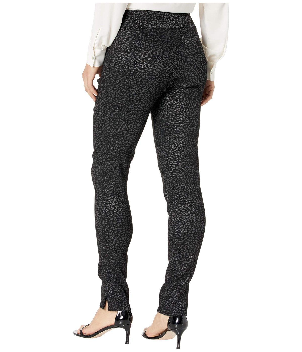 Lurex Cheetah Print Pull-On Pants