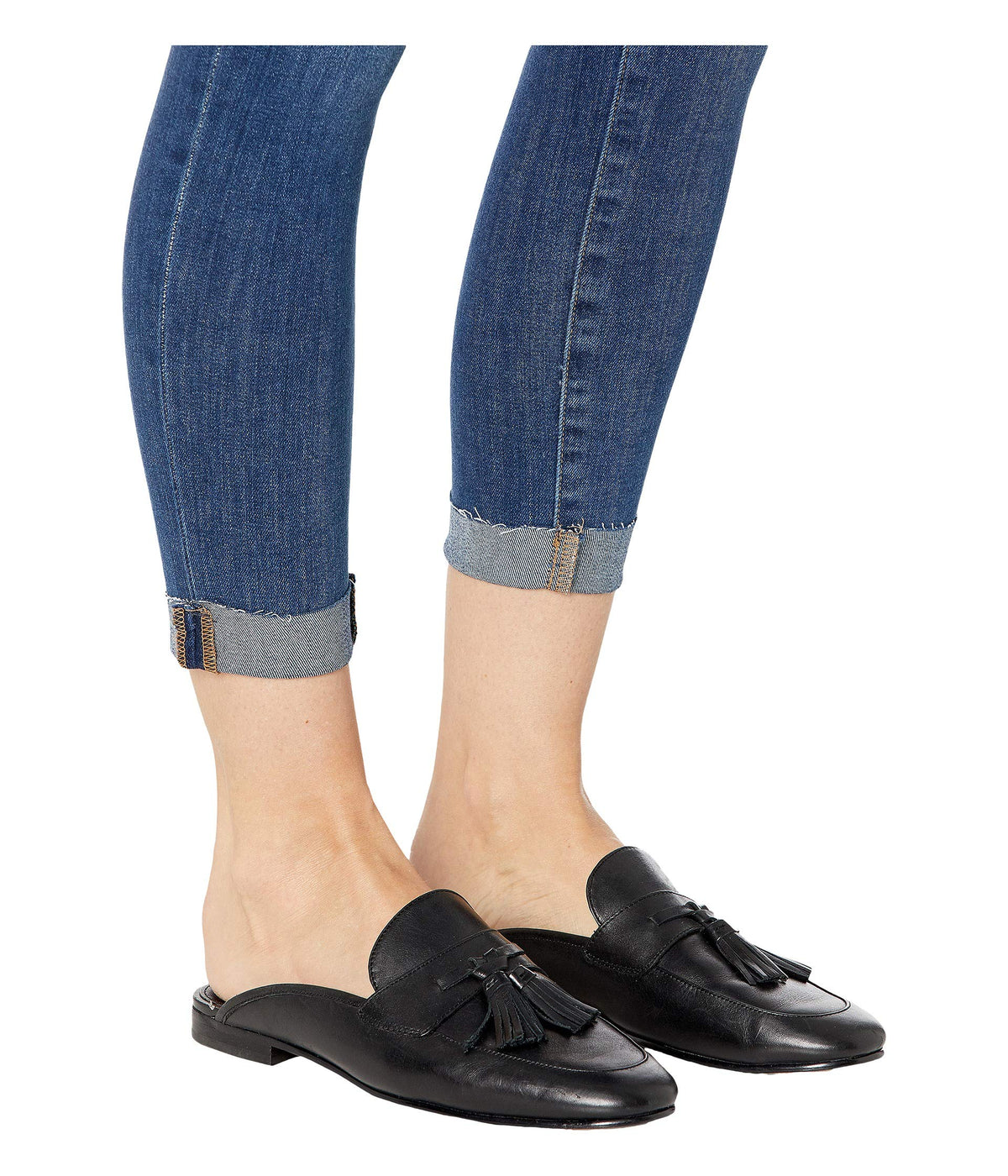 "Icon Crop Single Raw 1/4"" Cuff Jeans in Kalluna"