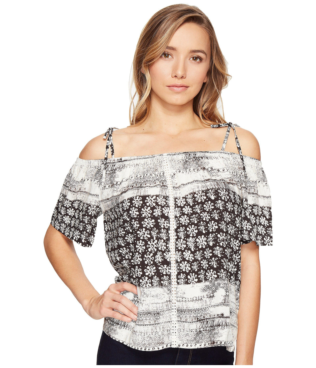 Charlotte Print Off the Shoulder Top