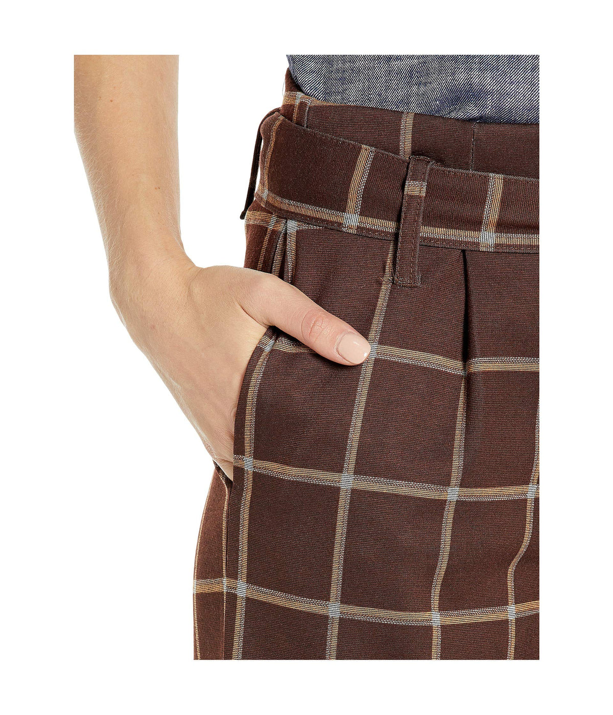 Plaid Wide Leg Leggings