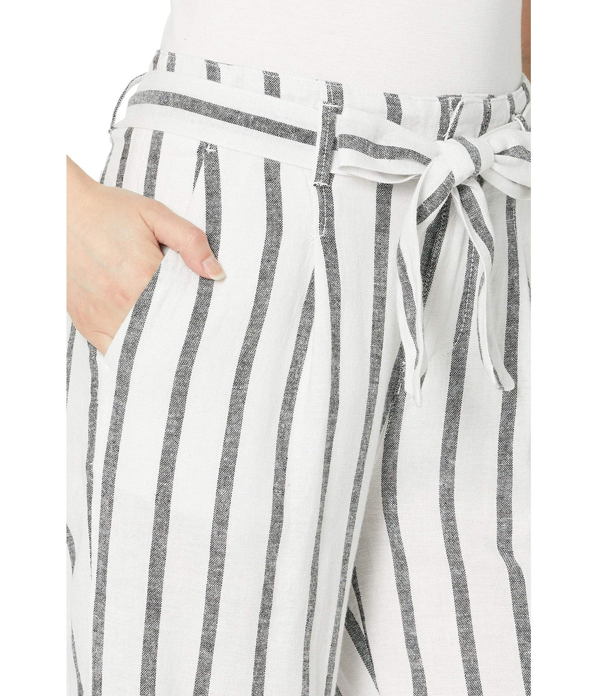 Inland Sashed Crop Linen Pants