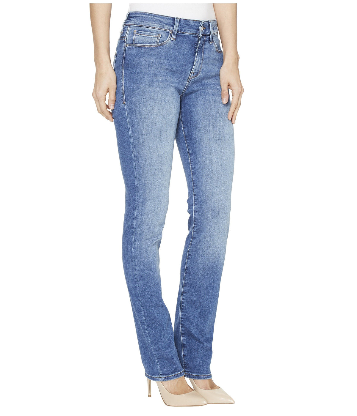 Kendra High Rise Straight Leg Jeans in Mid Soft Shanti