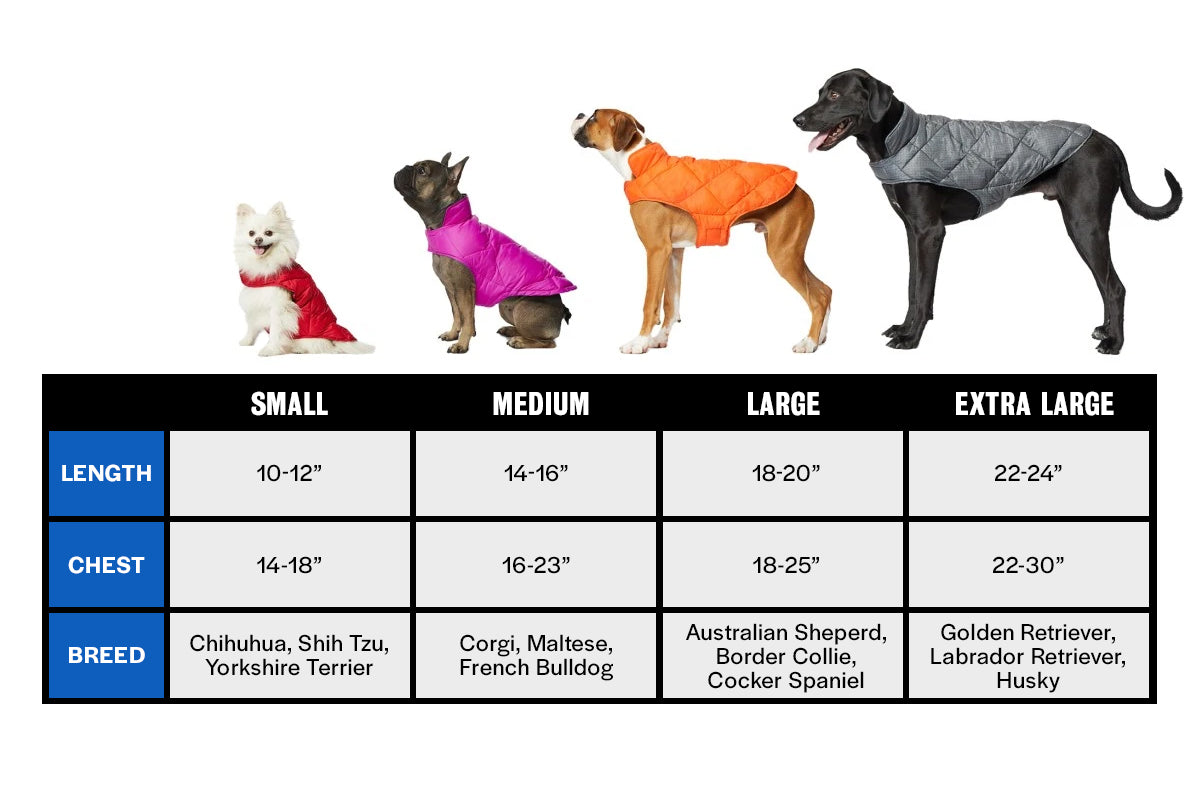 32 Degrees Pet Size Guide