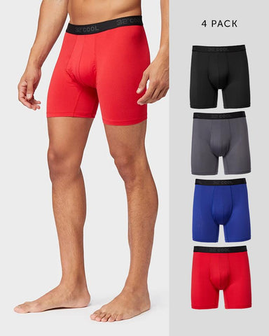 MEN'S 4 PACK ACTIVE MESH BOXER BRIEF